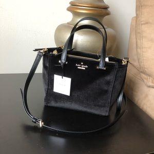 Kate Spade Mini Kona Dawn Place Velvet Bag Purse
